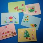 松花堂と手作りカード