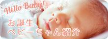 お誕生ベビーちゃん紹介