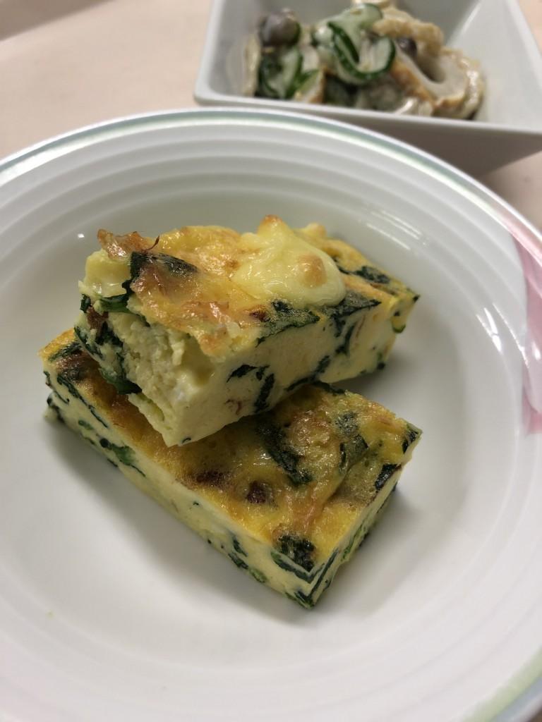 ほうれん草とチーズのオーブン焼き