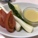 野菜のからし酢味噌添え